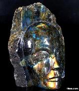 "6.3"" Labradorite Carved Crystal Portrait"