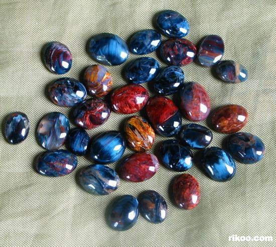 Pietersite Ring Cabochons lot,
