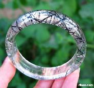 "inside diameter 2.4"" Tourmaline Quartz Crystal Bangle/Bracelet"