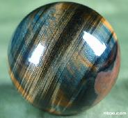 "2.1"" Tiger Eye/Tiger's Eye/tigereye Sphere, Crystal Ball"