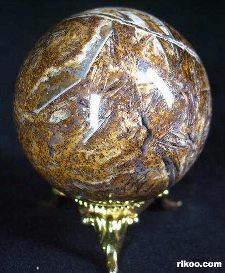 Bamboo Leaves Agate Crystal Ball