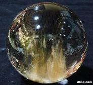 "4.3"" Rutilated Quartz Rock Crystal Sphere, Crystal Ball,Gemstone"