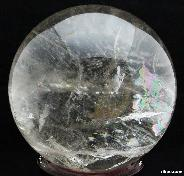 "8.5"" Quartz Rock Crystal Sphere, Crystal Ball,rainbows"