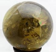 "9.4"" Citrine Sphere, Crystal Ball, Quartz"