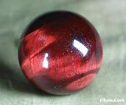"1.2"" Red Tiger Eye Sphere, Crystal Ball"