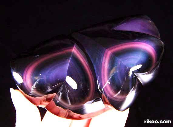 Rainbow Obsidian Crystal Hearts
