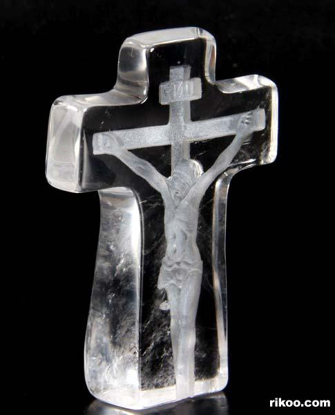Quartz Rock Crystal Crystal Jesus Cross