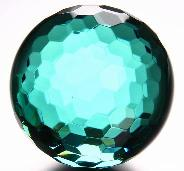"Huge 4.1"" Ocean Blue Obsidian Sphere, Crystal Faceted Ball"