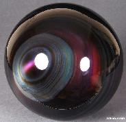 "TITAN 6.9"" Rainbow Obsidian Sphere, Crystal Ball"