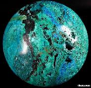 "Amazing Rare Titan 5.7"" Azurite Chessylit Sphere, Crystal Ball"