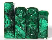 Malachite Carved Crystal Fishes, Frog, Tiger,Butterfly