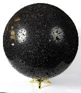 "HUGE 5.3"" Hot Lava Stone Sphere, Crystal Ball"
