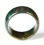 Gemstone Size 9, Bloodstone Carved Crystal Ring