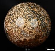 "Nice Gemstone 7.2"" Ocean Jasper Sphere, Crystal Ball"