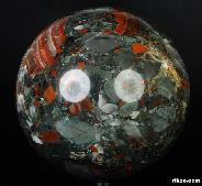 "Titan 10.0"" African Bloodstone Sphere, Crystal Ball"