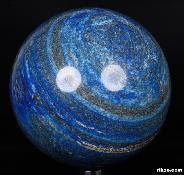 "Gemstone Huge 6.3"" Lapis Lazuli Sphere, Crystal Ball"