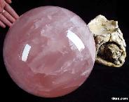 "TITAN CLEAR 7.6"" Rose Quartz Sphere, Crystal Ball, perfect"