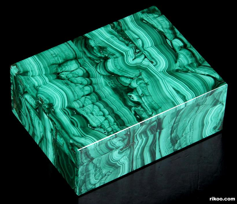 Malachite Crystal Jewelry Box, Gemstone BOX