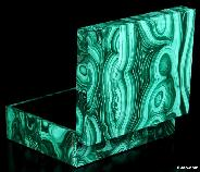 "Gemstone 4.1"" Malachite Crystal Jewelry Box, Gemstone BOX"