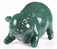 "2.7"" African Bloodstone Crystal Pig, Realistic, Crystal Healing"