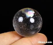 "1.2"" Quartz Rock Crystal Carved Crystal Ball, Realistic, Crystal Healing"
