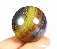 "1.5"" Colorful Tiger Iron Eye Carved Crystal Ball, Realistic, Crystal Healing"