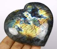 "Flash 3.6"" Labradorite Crystal Heart"