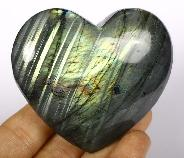 "Flash 3.0"" Labradorite Crystal Heart"