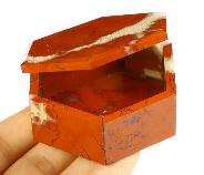"2.8"" Red Jasper Crystal Jewelry Box"