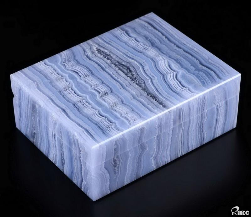 Blue Lace Agate Crystal Jewelry Box