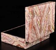 "4.1"" Red Crazy Lace Agate Crystal Jewelry Box"