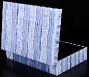 "6.1"" Blue Lace Agate Crystal Jewelry Box, Crystal Healing"