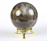 "2.1"" Gray Quartz Crystal Ball, Crystal Healing"