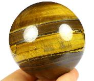 "2.6"" Tiger Iron Eye Carved Crystal Sphere, Realistic"
