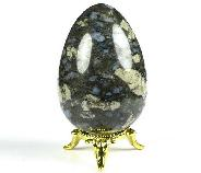 "2.5"" Que Sera Stone Llanite Carved Crystal Egg, Crystal Healing"