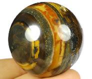 "2.0"" Colorful Tiger Iron Eye Carved Crystal Sphere, Crystal Healing"
