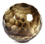 "2.0"" Citrine Carved Faceted Sphere Crystal Ball"