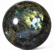 "AMAZING Flash GIANT 7.6"" Labradorite Sphere, Crystal Ball"