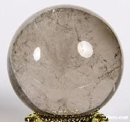 "1.7"" Smokey/Smoky Quartz Rock Crystal Sphere, Crystal Ball"