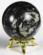 "2.0"" Black Picasso Jasper Sphere, Crystal Ball"