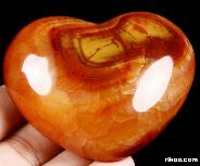 "HUGE 3.0"" Red Agate Carved Crystal Heart"