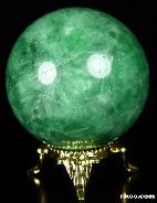 "2.0"" Green Nephrite Sphere, Crystal Ball"