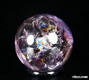 "Rainbows Clear Gemstone 1.1"" Amethyst Sphere, Crystal Ball"