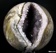 "Stunning Geode HUGE 6.1"" Dinosaur Egg Agate Sphere, Crystal Ball"