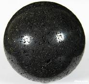 "HUGE 3.7"" Hot Lava Stone Sphere, Crystal Ball"