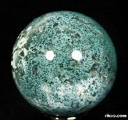 "1.6"" Green Moss Agate Sphere, Crystal Ball"
