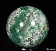 "1.3"" Green Moss Agate Sphere, Crystal Ball"