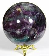 "3.0"" Fluorite Sphere, Crystal Ball"
