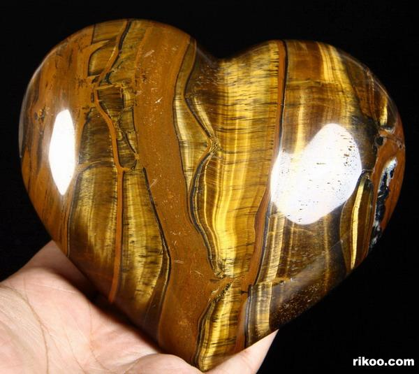 Gold Tiger Eye Crystal Heart