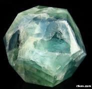 "3.2"" Fluorite Carved Crystal Dodecahedron"